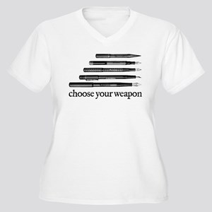 Choose Your Weapon Women's Plus Size V-Neck T-Shir