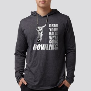 Grab Your Balls Bowling Mens Hooded Shirt