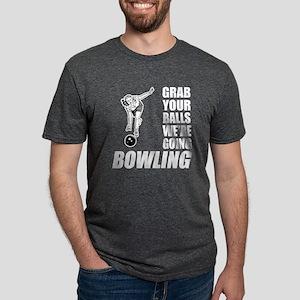 Grab Your Balls Bowling Mens Tri-blend T-Shirt