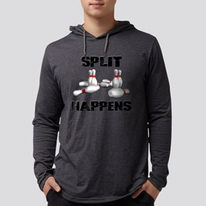Split Happens Bowling Mens Hooded Shirt