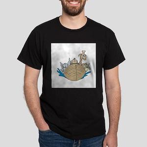 animals on ark copy Dark T-Shirt