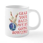 Grab Your Balls Bowling 20 oz Ceramic Mega Mug