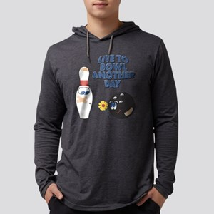 Live To Bowl Mens Hooded Shirt
