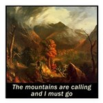 Mountains Calling Square Car Magnet 3