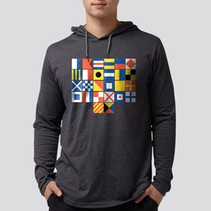 Nautical Flags Mens Hooded Shirt