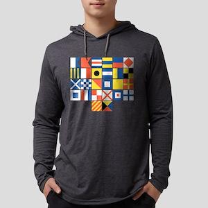 Nautical Flags Mens Hooded Shirt