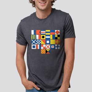Nautical Flags Mens Tri-blend T-Shirt