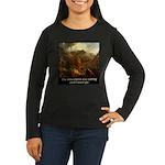 Mountains Calling Women's Long Sleeve Dark T-Shirt