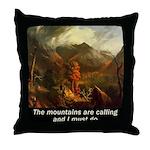 Mountains Calling Throw Pillow