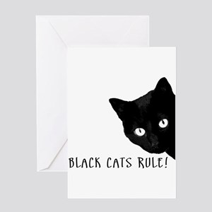 BLACK CATS RULE Greeting Card