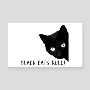 BLACK CATS RULE Rectangle Car Magnet