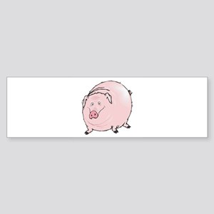 silly pot belly pig copy Sticker (Bumper)