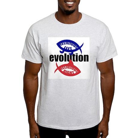 RELIGIOUS EVOLUTION Ash Grey T-Shirt