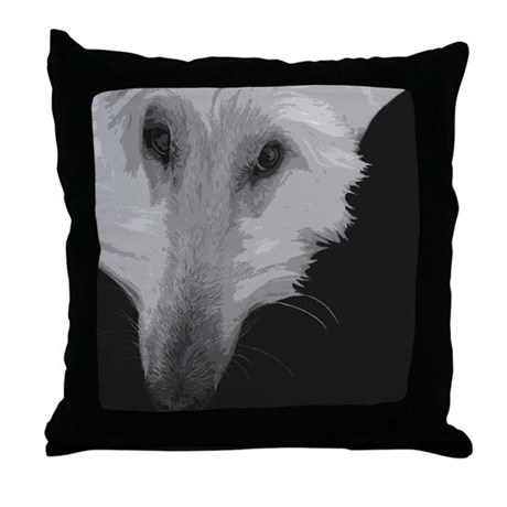 Abstract Afghan Throw Pillow