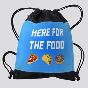 Here for the Food Drawstring Bag