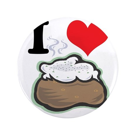 """baked potato 3.5"""" Button (100 pack)"""