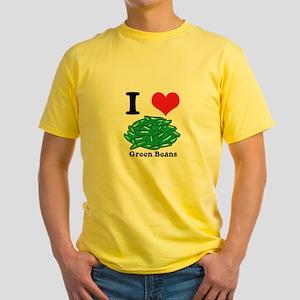 green beans Yellow T-Shirt
