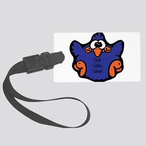 cluck-colon-cancer Large Luggage Tag