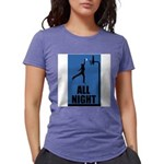 All Night Basketball Womens Tri-blend T-Shirt