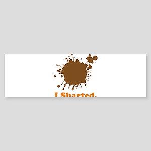 i sharted Sticker (Bumper)