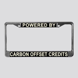 Powered by Carbon Offset Credits Lic. Plate Frame