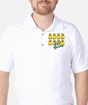 just ducky.png Golf Shirt