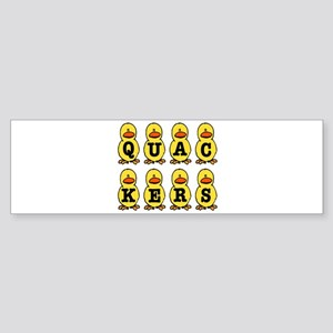 QUACKERS DUCKS Sticker (Bumper)
