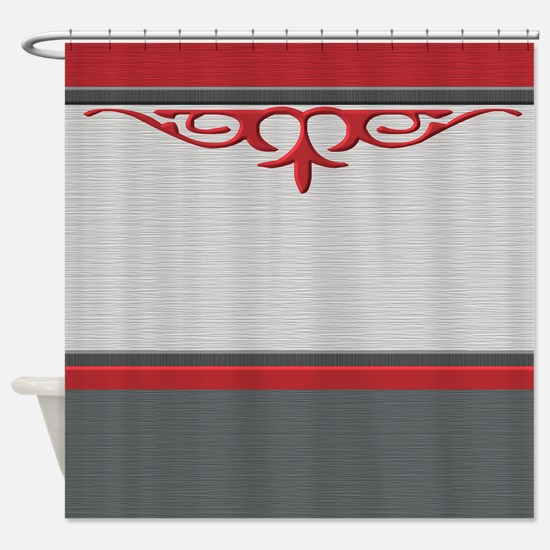 red and cream shower curtain. Elegance with red Shower Curtain Red And Gray Curtains  CafePress