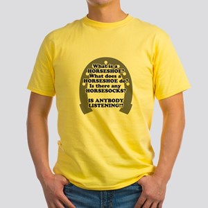 what is a horseshoe Yellow T-Shirt