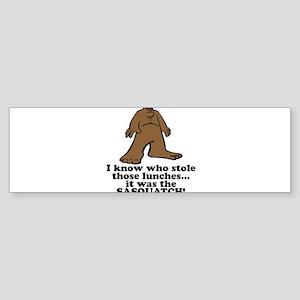 sasquatch stole lunches Sticker (Bumper)