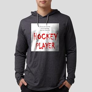 Hockey Player Mens Hooded Shirt