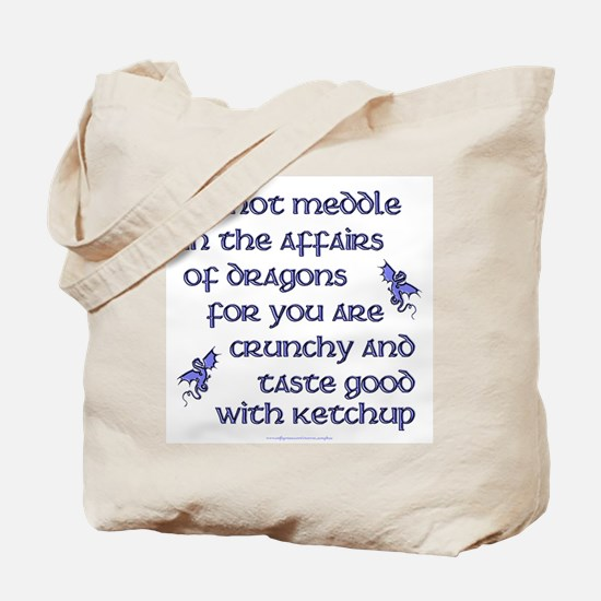 Affairs of Dragons (English) Tote Bag