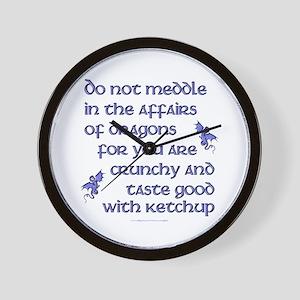 Affairs of Dragons (English) Wall Clock