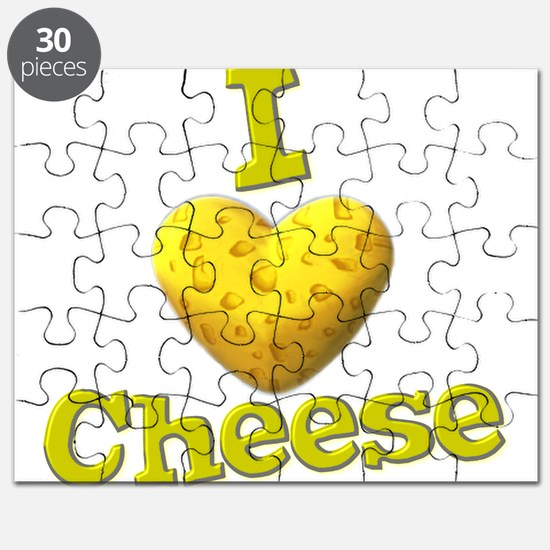 funny cute i heart love cheese cheesey heart Puzzl