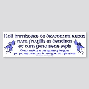 Affairs of Dragons (Latin) Bumper Sticker