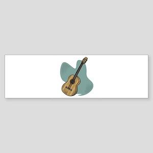 acoustic guitar copy Sticker (Bumper)