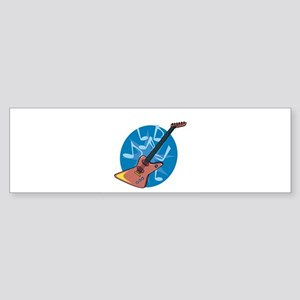 electric guitar copy Sticker (Bumper)