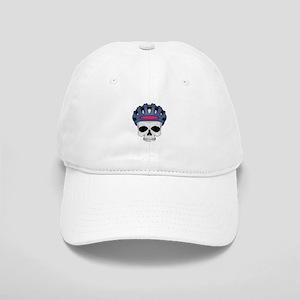 cycling skull copy Cap
