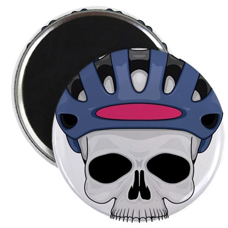 """cycling skull copy 2.25"""" Magnet (100 pack)"""