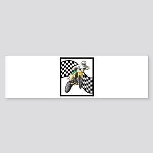 dirt bike racer checkered flag design copy Sti