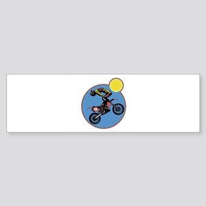 motocross motorcyle stunt copy Sticker (Bumper