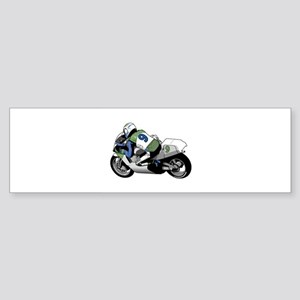 motorcycle racer copy Sticker (Bumper)