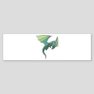 cool greenflyingdragon Sticker (Bumper)