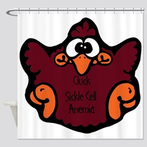 cluck-sickle-cell-anemia.png Shower Curtain