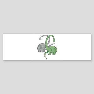 two dinosaurs copy Sticker (Bumper)