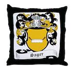 Sager Coat of Arms Throw Pillow