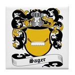 Sager Coat of Arms Tile Coaster