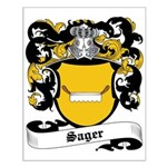 Sager Coat of Arms Small Poster