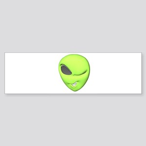 3d winking alien Sticker (Bumper)