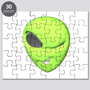3d winking alien Puzzle